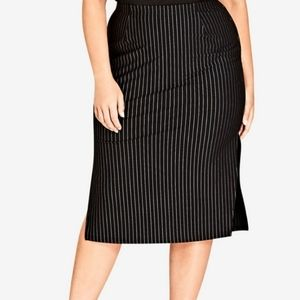 - City chic skirt on point pinstriped plus wo
